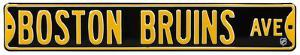 Boston Bruins Ave Steel Sign