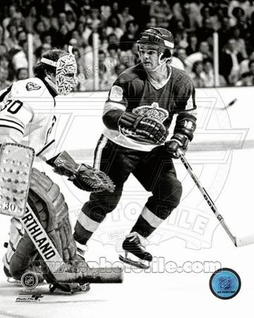 Boston Bruins, Los Angeles Kings - Gerry Cheevers, Marcel Dionne Photo
