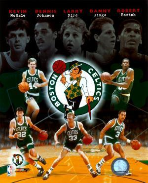"Boston Celtics ""Big Five"" Legends Composite"