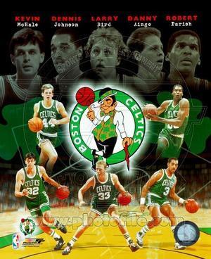 "Boston Celtics ""Big Five"" Legends Composite"