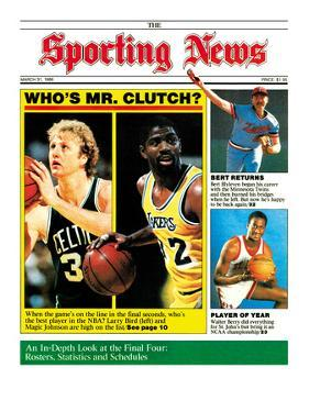 Boston Celtics' Larry Bird and L.A. Lakers' Magic Johnson - March 31, 1986