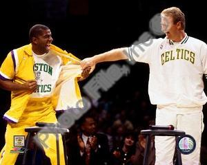 Boston Celtics, Los Angeles Lakers - Larry Bird, Magic Johnson Photo