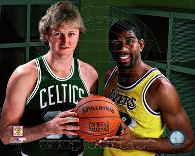 Boston Celtics, Los Angeles Lakers - Larry Bird, Magic Johnson Photo