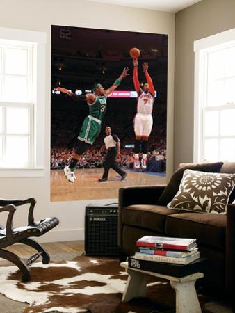 Boston Celtics v New York Knicks - Game Four, New York, NY - April 24: Carmelo Anthony and Paul Pie