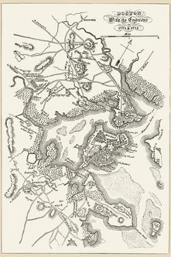 Boston: Map, 1775-1776