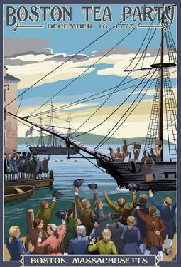 Boston, Massachusetts - Boston Tea Party Scene