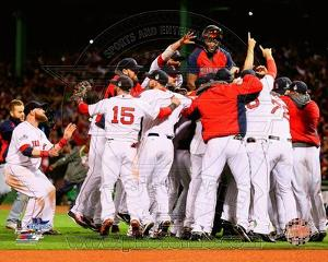 Boston Red Sox - David Ortiz, Shane Victorino, Dustin Pedroia, Jonny Gomes, John Lackey Photo