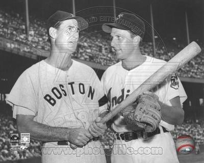 Boston Red Sox, Pittsburgh Pirates - Ted Williams, Ralph Kiner Photo