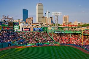 Boston Skyline with view of Historic Fenway Park, Boston Red Sox, Boston, Ma., USA, May 20, 2010...