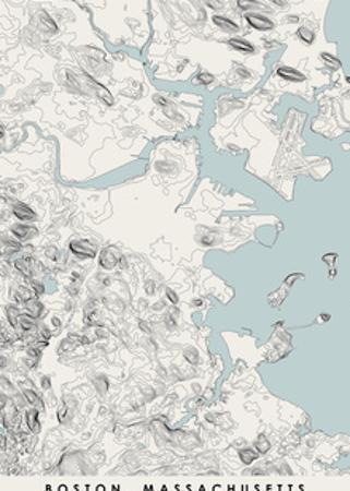Boston Topographical Print