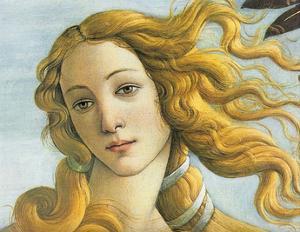 Botticelli (The Birth of Venus, Detail) Art Poster Print