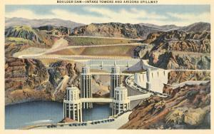 Boulder Dam and Arizona Spillway