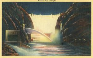 Boulder Dam at Night, Nevada