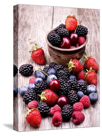 Tasty Summer Fruits On A Wooden Table by boule