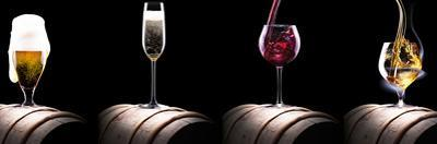 Alcohol Drinks Set Isolated on a Black by boule1301