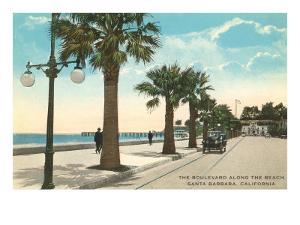 Boulevard along Beach, Santa Barbara, California