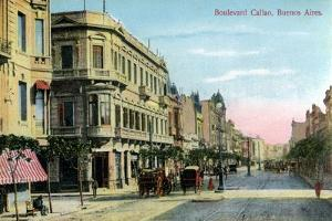 Boulevard Callao, Buenos Aires, Argentina, Late 19th or Early 20th Century