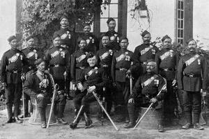 Native Officers of the 44th Gurkhas, Indian Army, 1896 by Bourne & Shepherd