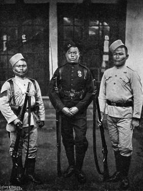 Types of Uniform of the 44th Gurkhas, 1896 by Bourne & Shepherd