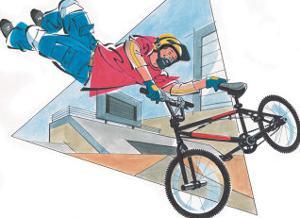 Boy on Stunt Bike