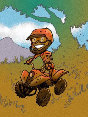 Boy Riding ATV
