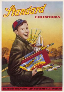 Boy with an Armful of Fireworks