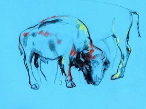 Buffalo Painting by Boyan Dimitrov