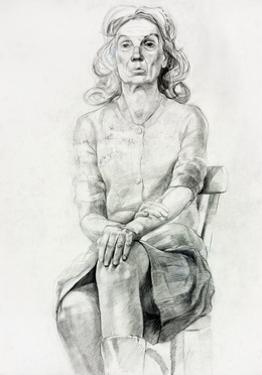 Woman Sitting Sketch by Boyan Dimitrov