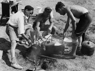 Boys Club, Food Preparation 1932