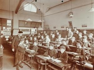 Boys Laying the Phylacteries, Jews Free School, Stepney, London, 1908