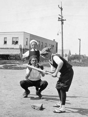 Boys Play Baseball in a Sandlot, Ca. 1923