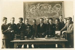 Boys School Science Class Picture