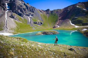 A Male Hiker in Ice Lake Basin, Colorado by Brad Beck