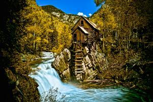 Crystal Mill Is an Old Ghost Town High Up in the Hills of the Maroon Bells, Colorado by Brad Beck
