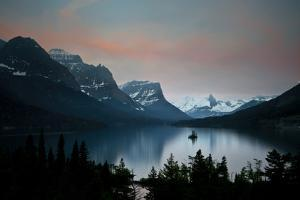 Glacier, Montana: Wild Goose Island Reflecting in St Mary Lake During Sunrise by Brad Beck