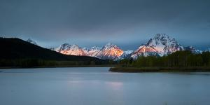 Grand Tetons, Wy: Sunrise at Oxbow Bend by Brad Beck