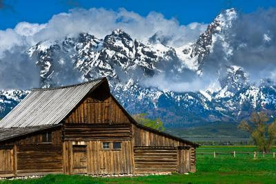 Grand Tetons, Wyoming: an Old Barn Located in the Historic District of Jackson Hole