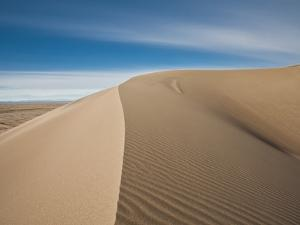 Great Sand Dunes, Co: a Sandy Ridge Line Vanishes into the Horizon by Brad Beck