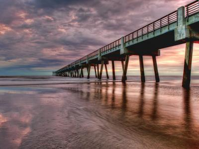 Jacksonville, Fl: Sunrise Colors the Skies at the Pier