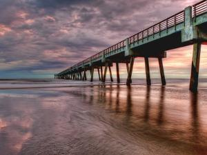Jacksonville, Fl: Sunrise Colors the Skies at the Pier by Brad Beck