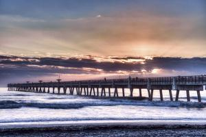 Jacksonville, Florida: Early Morning Fisherman Enjoying the Sunrise by Brad Beck