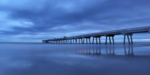 Jacksonville, Florida: Reflections of the Pier Bounce Off the Incoming Tide by Brad Beck