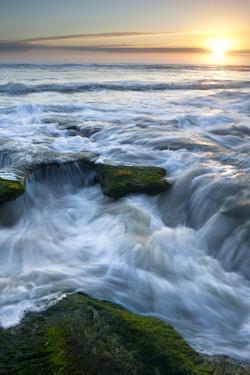 Marineland, Florida: Waves Crashing over the Algae Covered Rocks by Brad Beck