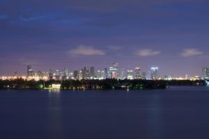 Miami , Florida: Downtown Miami at Night by Brad Beck