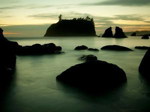 Olympic National Park, Wa: Sea Stacks Get Wrapped by the Incoming Tide by Brad Beck