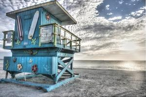 South Beach Miami: a Lifeguard Stand on South Beach During a Sunrise by Brad Beck