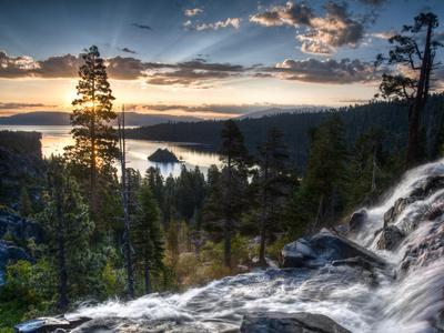 Sunrise Reflecting Off the Waters of Emerald Bay and Eagle Falls, South Lake Tahoe, Ca