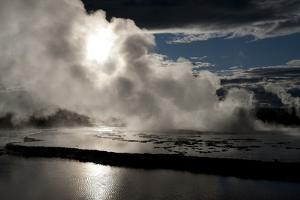Yellowstone, Wyoming: Reflections of the Sky in the Pools of the Great Fountain Geyser by Brad Beck