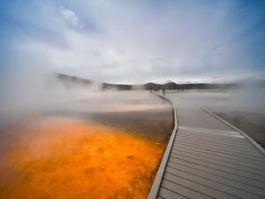 Yelowstone, Wy: While Walking on the Boardwalk That Surrounds the Grand Parismatic Geyser by Brad Beck