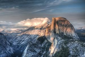 Yosemite National Park, California: Clouds Roll in on Half Dome as Sunset Falls on the Valley by Brad Beck